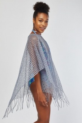 Loose Crochet Net Cover Up
