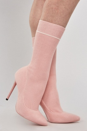 Sock Overlay Court Heels
