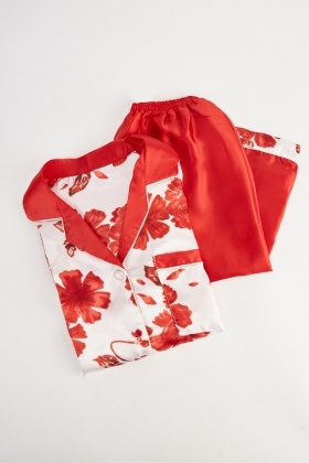 Floral Sateen Pyjama Set