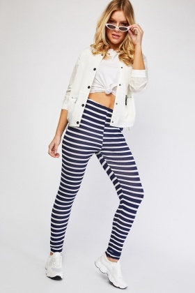 Casual Striped Leggings