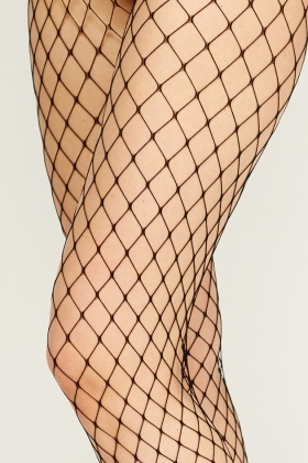 Pack Of 2 Large Fishnet Tights