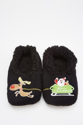 Mens Festive Memory Foam Slippers