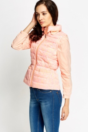 Quilted High Neck Coat