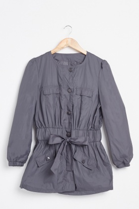 Ruched Waterproof Thin Jacket