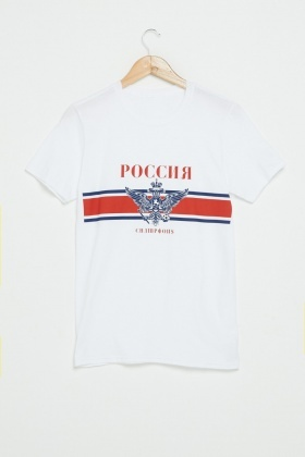 Russia Football Graphic T-Shirt