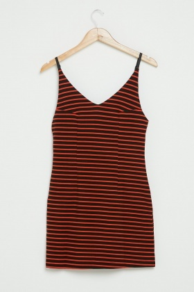 Striped Contrast Party Dress