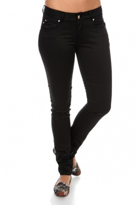 Diamante Stud Pocket Slim Leg Trousers