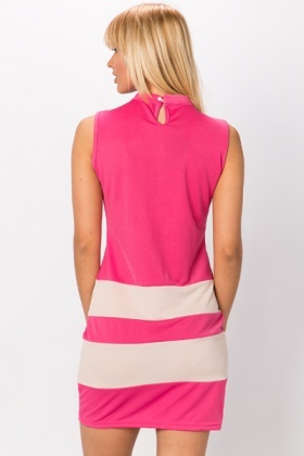 Colour Block Stripe Bodycon Dress