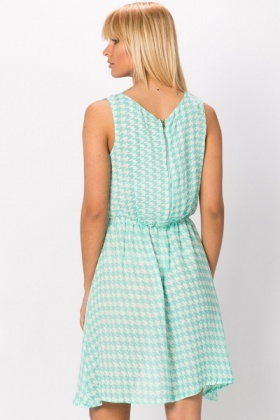Dogtooth Skater Dress