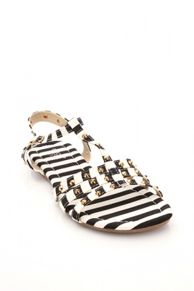 Military Print Studded Flap Sandals