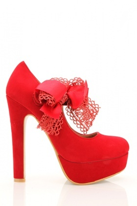Crochet & Satin Bow Strap Shoes