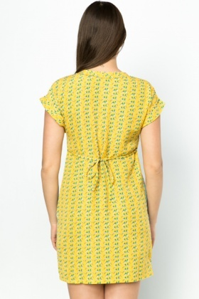 Bird Print Summer Dress