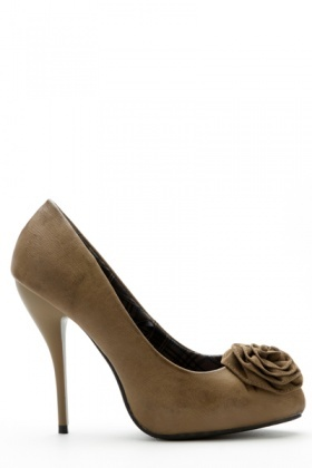 Rose Embellished Court Shoes