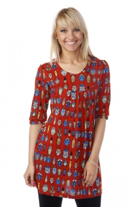 Bugs Print Fleece Dress
