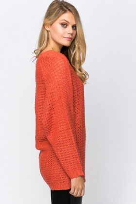 Perforated Chunky Sweater