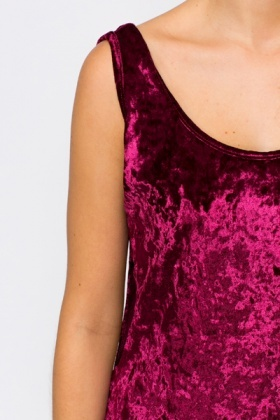 Cut Out Side Velveteen Dress