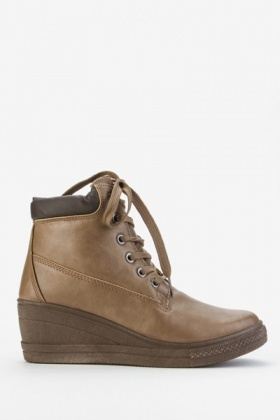 Platform Wedge Workman Boots