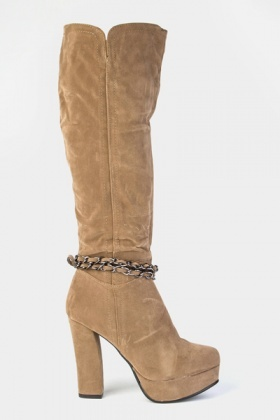 Chain Embellished Boots