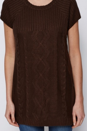 Contrast Knit Jumper Dress