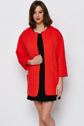 Jacquard Red Jacket