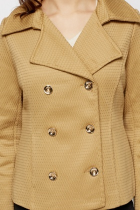 Embossed Khaki Mac Jacket