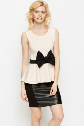 Bow Front Peplum Top
