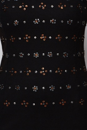 Cut-Out Back Embellished Dress
