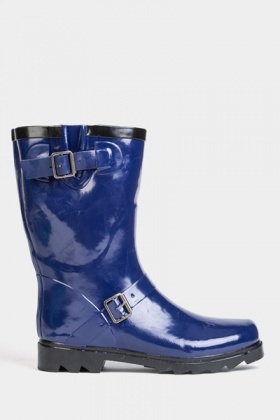 Buckle Trim Wellie Boots