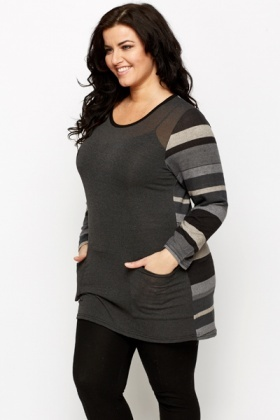 Stripe Sleeve Tunic