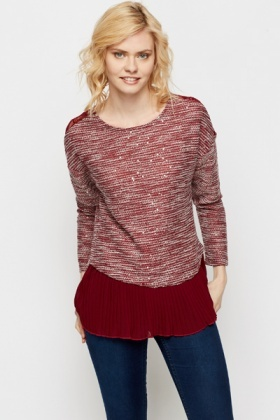 Sequin Blend Knit Top