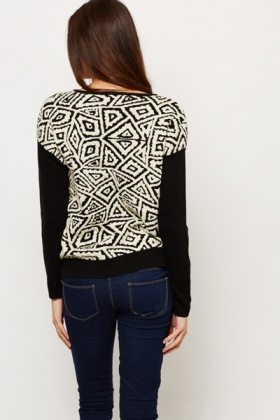 Contrast Metallic Knit Jumper