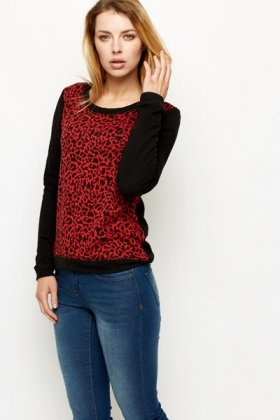 Animal Print Front Sweatshirt