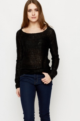 Sequin Knit Pullover