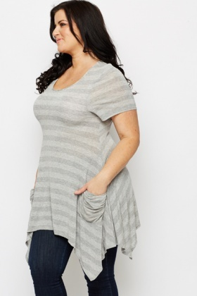 Slouch Pocket Stripe Tunic
