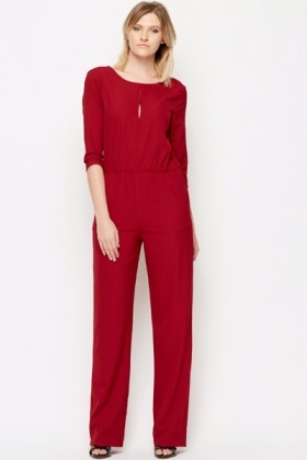 Cut Out Front Jumpsuit