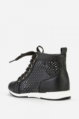 Perforated High Top Trainers