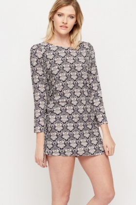 Tassel Ornate Print Tunic