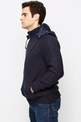 Cable Knit Padded Jacket