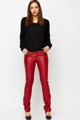 PU Coloured Trousers