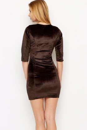 Velveteen Bodycon Dress