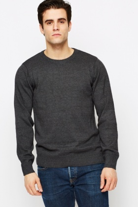 Ribbed Collar Jumper