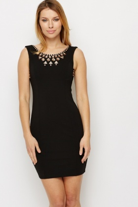 Embellished Bodycon Dress