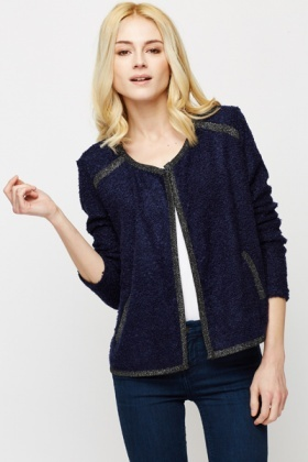 Fleece Open Front Cardigan