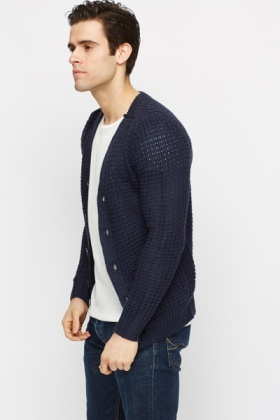 Chunky Knit Button Front Cardigan