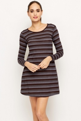 Stripe A-Line Tunic Dress