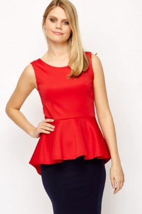 Dipped Hem Sleeveless Top