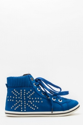 Studded Union Jack Trainers