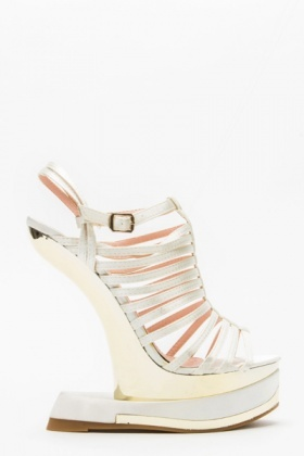 Curve Wedge Open Toe Sandals