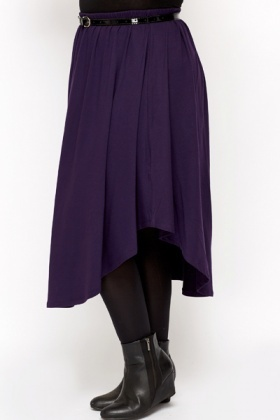 Asymmetric Jersey Skirt