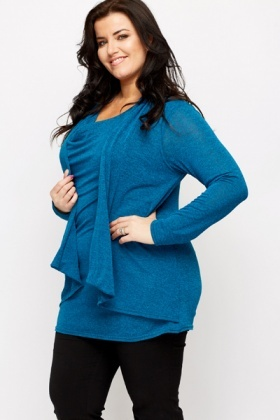 Multicolored Combo Cardigan Top